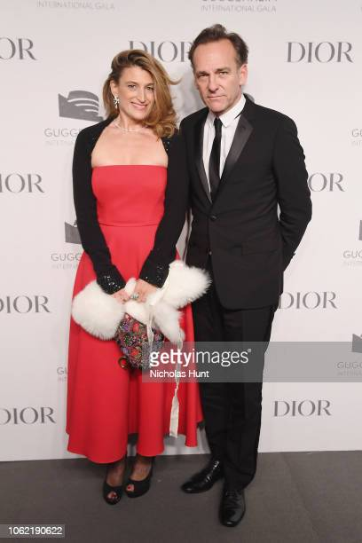 Adelaide De Lesquen and Renaud De Lesquen attend the Guggenheim International Gala Dinner made possible by Dior at Solomon R Guggenheim Museum on...