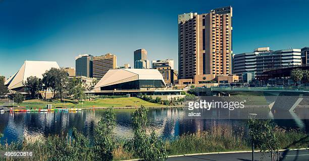 adelaide festival theatre and city - adelaide festival stock pictures, royalty-free photos & images