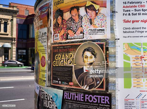 adelaide fringe poster advert - adelaide festival stock pictures, royalty-free photos & images