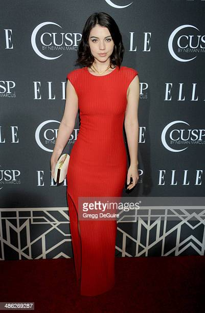 Adelaide Kane arrives at ELLE's 5th Annual Women In Music concert celebration at Avalon on April 22 2014 in Hollywood California