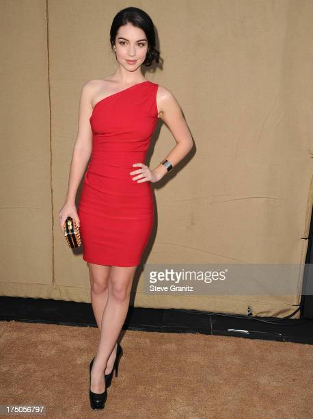 Adelaide Kane arrives at the Television Critic Association's Summer Press Tour CBS/CW/Showtime Party at 9900 Wilshire Blvd on July 29 2013 in Beverly...