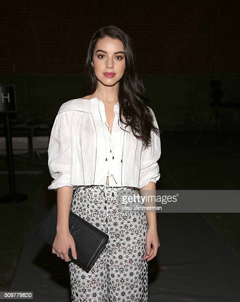 Adelaide Kane attends Zimmermann Front Row Fall 2016 New York Fashion Week at ArtBeam on February 12 2016 in New York City
