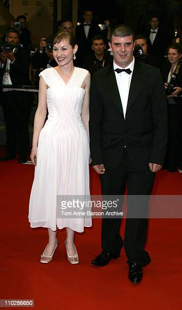 Adelaide Leroux and Bruno Dumont during 2006 Cannes Film Festival 'Flandres' Premiere at Palais des Festival in Cannes France