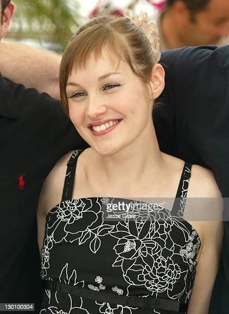 Adelaide Leroux during 2006 Cannes Film Festival 'Flandres' Photocall at Palais des Festival Terrace in Cannes France