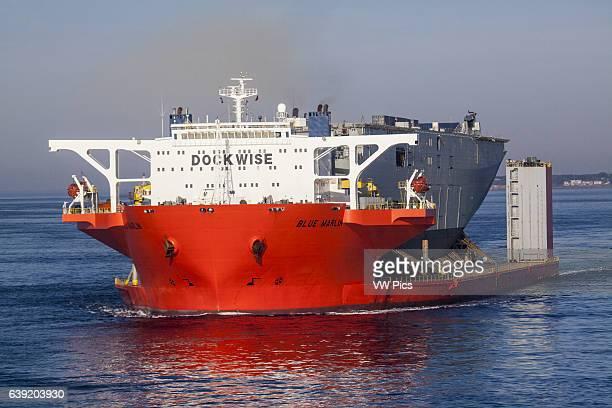 Adelaide on board the Blue Marlin heavy lift vessel Shot taken while entering Port Phillip Bay