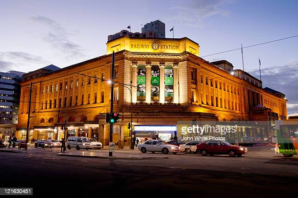 adelaide railway station - south australia stock pictures, royalty-free photos & images