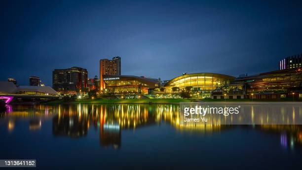 adelaide sky city sunset - adelaide stock pictures, royalty-free photos & images