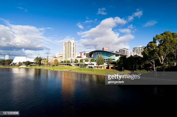 adelaide skyline - adelaide stock pictures, royalty-free photos & images