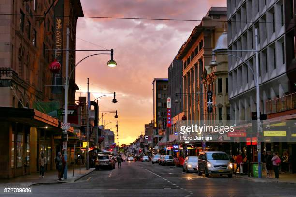 adelaide street scene - adelaide stock pictures, royalty-free photos & images