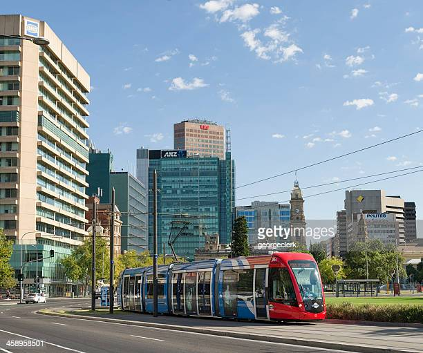 adelaide tram - adelaide stock pictures, royalty-free photos & images