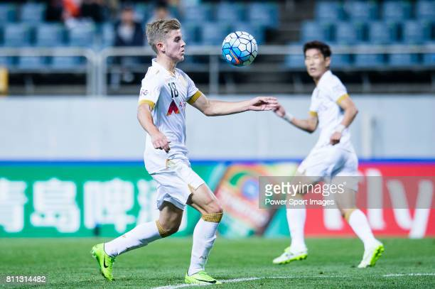 Adelaide United Midfielder Riley Patrick Mcgree in action during the AFC Champions League 2017 Group Stage Group H match between Jeju United FC vs...