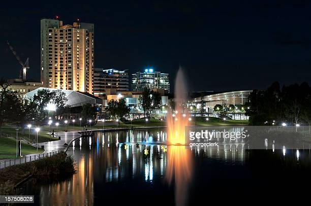 adelaide waterfront at night - adelaide stock pictures, royalty-free photos & images