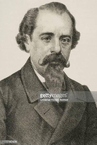 Adelardo Lopez de Ayala y Herrera Spanish writer and politician Lithography 1870 Detail