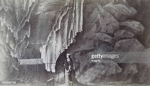 Adelberg in Slovenia The curtain at the Adelsberger stalactite cave About 1875 Photograph by J Martini / Cilli