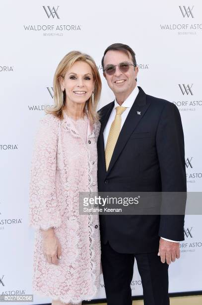 Adele Alagem and Beny Alagem attend Waldorf Astoria Beverly Hills Grand Opening Celebration on June 28 2017 in Beverly Hills California