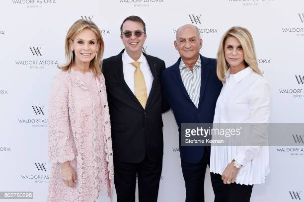 Adele Alagem Beny Alagem Arthur Weiner and Sunny Weiner attend Waldorf Astoria Beverly Hills Grand Opening Celebration on June 28 2017 in Beverly...