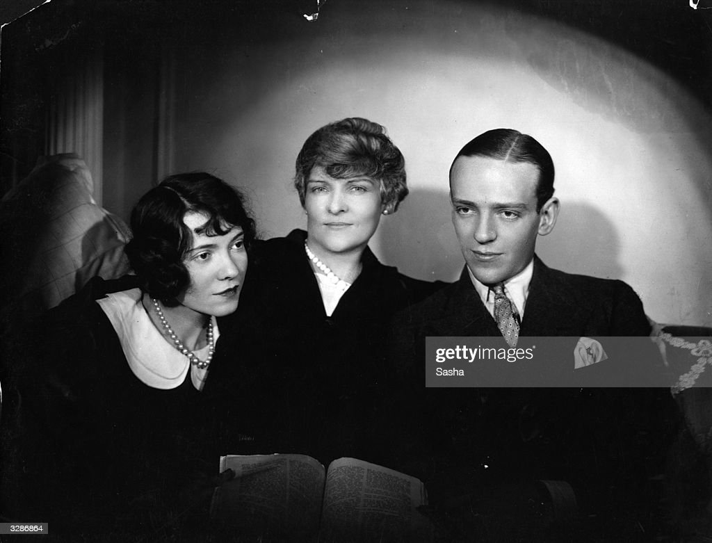 Adele and Fred Astaire with their mother  News Photo - Getty Images