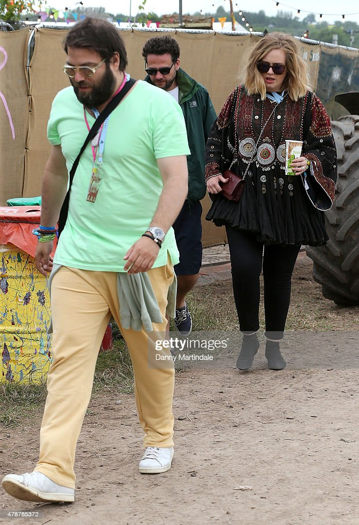 Glastonbury Festival 2015 - Celebrity Sightings : Foto jornalística
