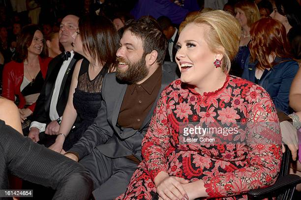 Adele and Simon Konecki attend the 55th Annual GRAMMY Awards at STAPLES Center on February 10 2013 in Los Angeles California