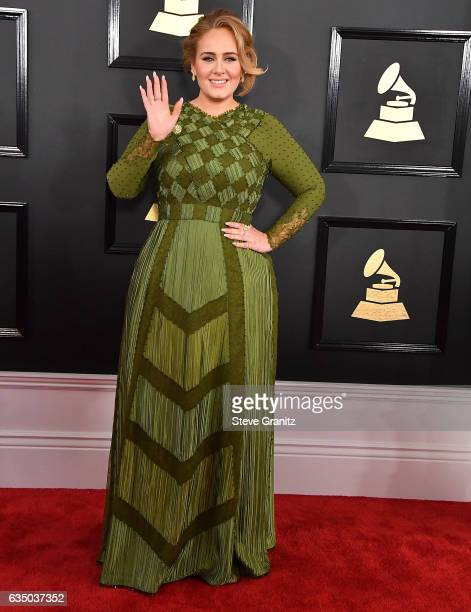 Adele arrives at the 59th GRAMMY Awards on February 12 2017 in Los Angeles California