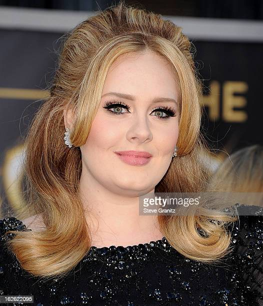Adele arrives at the 85th Annual Academy Awards at Dolby Theatre on February 24, 2013 in Hollywood, California.