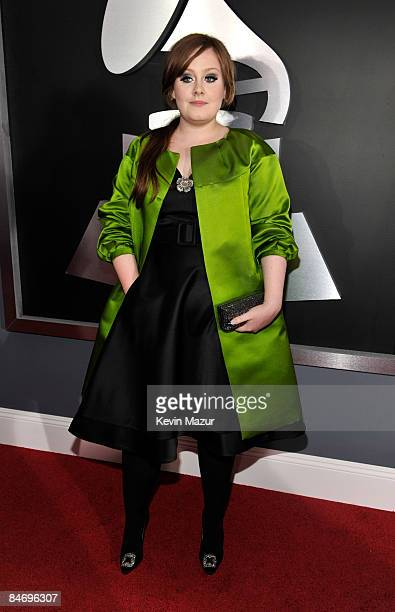 Adele arrives to the 51st Annual GRAMMY Awards at the Staples Center on February 8 2009 in Los Angeles California