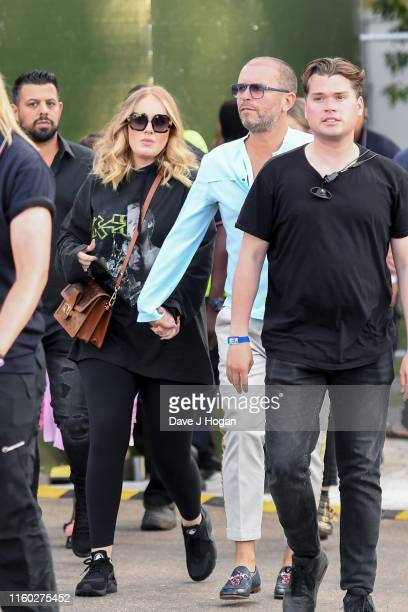 Adele attends during Barclaycard Presents British Summer Time Hyde Park at Hyde Park on July 05 2019 in London England