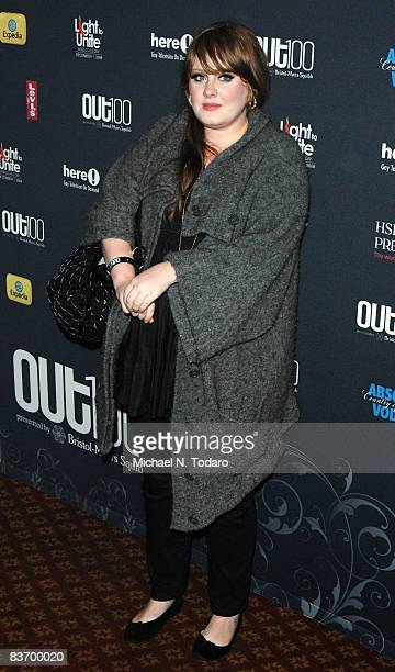 Adele attends the 15th annual OUT100 Awards at Gotham Hall on November 14 2008 in New York City