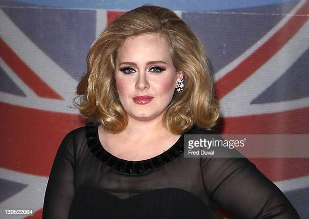 Adele attends the BRIT Awards 2012 at 02 Arena on February 21 2012 in London England