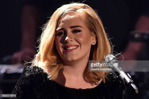 Adele attends the television show 2015 Menschen Bilder Emotionen RTL Jahresrueckblick on December 6 2015 in Cologne Germany
