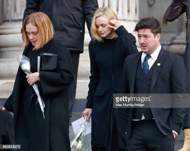 Adele, Carey Mulligan and Marcus Mumford attend the Grenfell Tower national memorial service at St Paul's Cathedral on December 14, 2017 in London,...