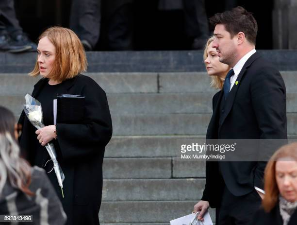 Adele Carey Mulligan and Marcus Mumford attend the Grenfell Tower national memorial service at St Paul's Cathedral on December 14 2017 in London...
