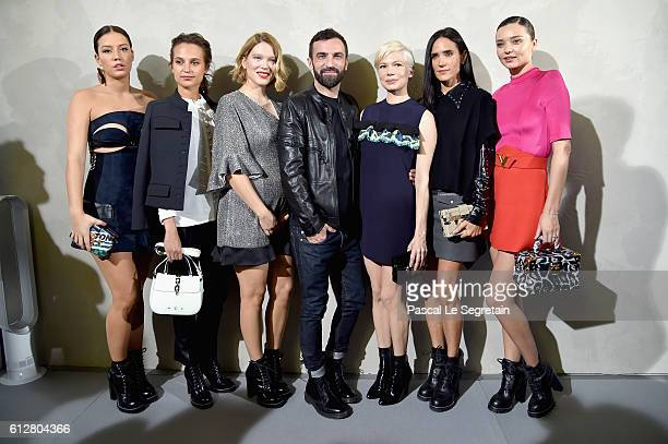 Adele Exarchopoulos Alicia Vikander Lea Seydoux Nicolas Ghesquiere Michelle Williams Jennifer Connelly and Miranda Kerr attend the Louis Vuitton show...