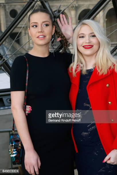 Adele Exarchopoulos and Camille Seydoux attend the Louis Vuitton show as part of the Paris Fashion Week Womenswear Fall/Winter 2017/2018 on March 7...