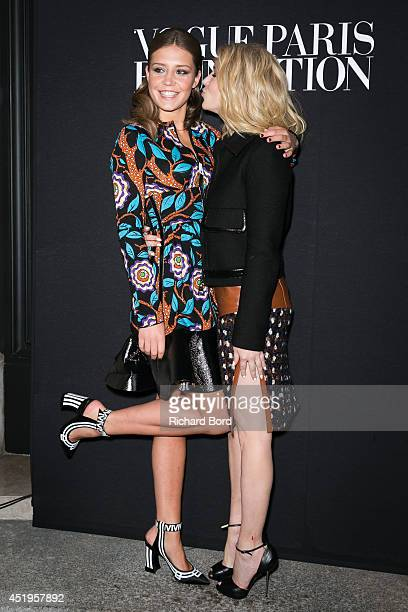 Adele Exarchopoulos and Camille Seydoux attend the Vogue Foundation Gala as part of Paris Fashion Week at Palais Galliera on July 9 2014 in Paris...