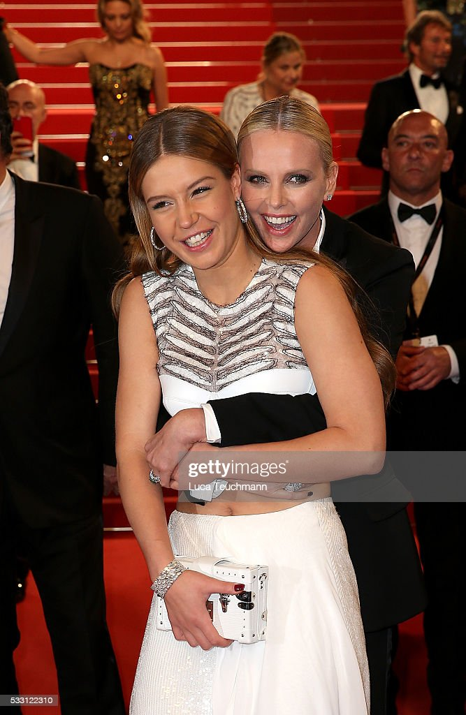 Adele Exarchopoulos and Charlize Theron attend the screening of 'The Last Face' at the annual 69th Cannes Film Festival at Palais des Festivals on May 20, 2016 in Cannes, France.