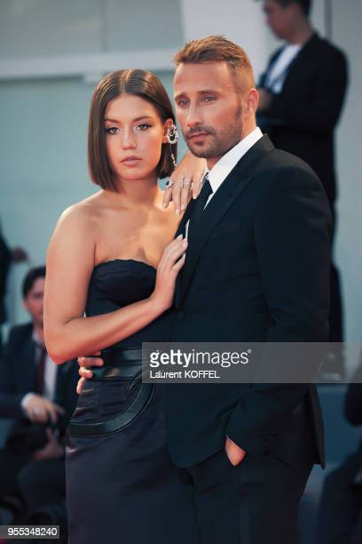 Adele Exarchopoulos and Matthias Schoenaerts walk the red carpet ahead of the 'Racer And The Jailbird ' screening during the 74th Venice Film...
