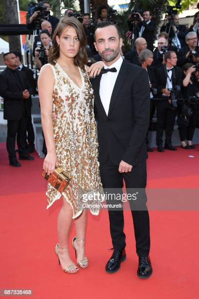 Adele Exarchopoulos and Nicolas Ghesquiere attend the 70th Anniversary of the 70th annual Cannes Film Festival at Palais des Festivals on May 23 2017...