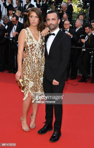 Adele Exarchopoulos and Nicolas Ghesquiere attend the 70th Anniversary screening during the 70th annual Cannes Film Festival at Palais des Festivals...