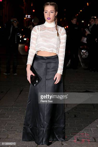Adele Exarchopoulos arrives at the HM show as part of the Paris Fashion Week Womenswear Fall/Winter 2016/2017 on March 2 2016 in Paris France