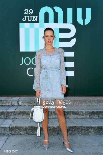 Adele Exarchopoulos attends Miu Miu Club event at Hippodrome d'Auteuil on June 29 2019 in Paris France
