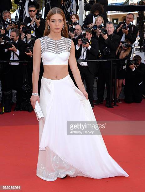 Adele Exarchopoulos attends 'The Last Face' Premiere during the 69th annual Cannes Film Festival at the Palais des Festivals on May 20 2016 in Cannes...