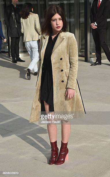 Adele Exarchopoulos attends the Louis Vuitton show as part of Paris Fashion Week Fall Winter 2015/2016 on March 11 2015 in Paris France