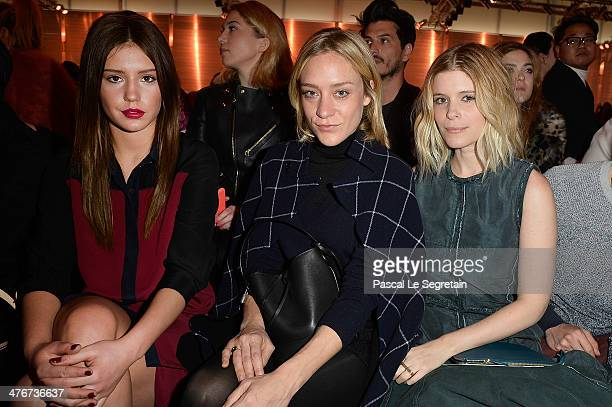 Adele Exarchopoulos Chloe Sevigny and Kate Mara attend the Louis Vuitton show as part of the Paris Fashion Week Womenswear Fall/Winter 20142015 on...