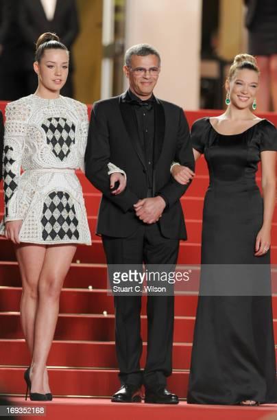 Adele Exarchopoulos director Abdellatif Kechiche and Lea Seydoux attend the 'La Vie D'Adele' premiere during The 66th Annual Cannes Film Festival at...