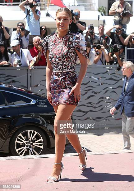 Adele Exarchopoulos is seen arriving for the The Last Face Photocall during the annual 69th Cannes Film Festival at on May 20 2016 in Cannes France
