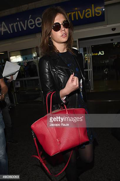 Adele Exarchopoulos is seen arriving in Nice for the 67th Annual Cannes Film Festival on May 14 2014 in Nice France