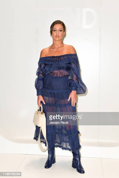 Adele Exarchopoulos is seen at the Fendi fashion show on January 13, 2020 in Milan, Italy.