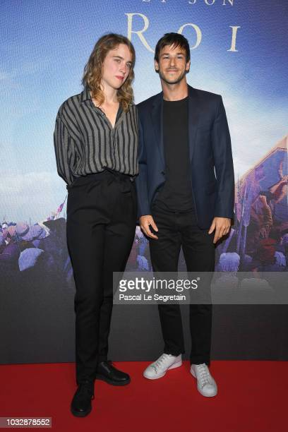 Adele Haenel and Gaspard Ulliel attend 'Un Peuple Et Son Roi' Paris Premiere at Gaumont Capucines on September 13 2018 in Paris France