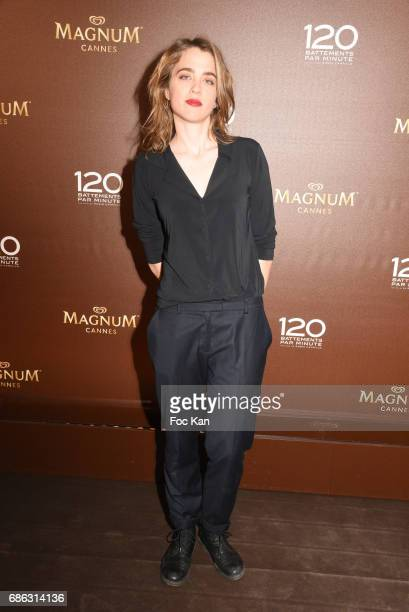 Adele Haenel attends the '120 Beats Per Minute ' party at the Plage Magnum during the 70th annual Cannes Film Festival at Palais des Festivals on May...